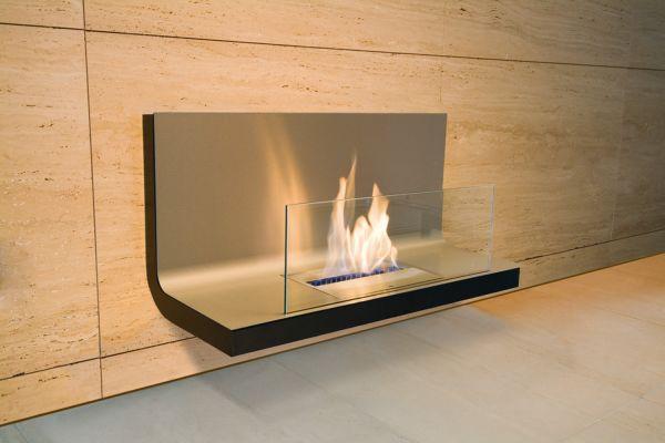 Wall Flame 1 Edelstahl/Schwarz