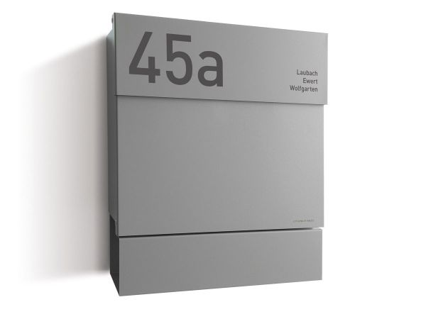 Briefkasten Letterman 5 Silber inkl. LED-Licht und optionaler Gravur