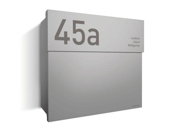 Briefkasten Letterman 4 Silber inkl. LED-Licht & optionaler Gravur