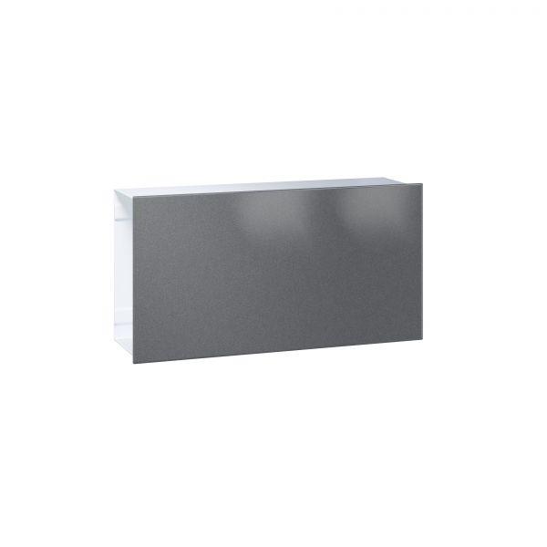Zeitungsfach Flat - Front Stahl oder Edelstahl / Korpus weiß