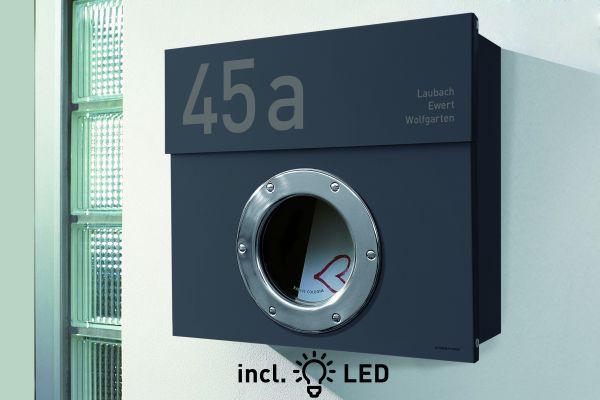 briefkasten letterman 1 anthrazit designbowl. Black Bedroom Furniture Sets. Home Design Ideas