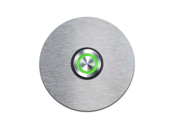 Klingelschalter mit LED-Leuchtring Hellgrün