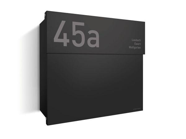 Briefkasten Letterman 4 Schwarz inkl. LED-Licht & optionaler Gravur