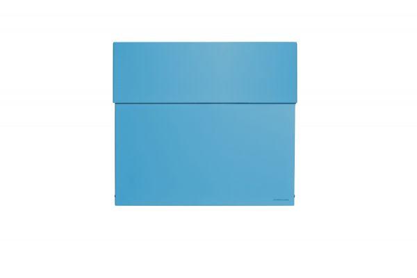 Briefkasten Letterman 4 Blau Frontal