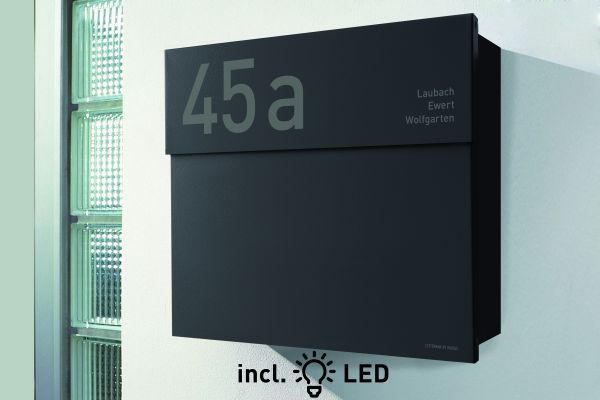 Briefkasten Letterman 4 inkl. LED Licht